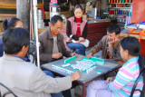 Mahjong game in Tsetang ... I'm guessing they're Chinese?