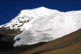 The massive glacier on the south face of Mount Nojin Kangtsang