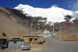 Mt. Nojin Kangtsang and the village at Karo-la Pass