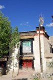 Typical Tibetan house, old town Gyantse