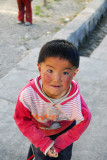 Tibetan child with rosy cheeks