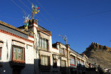 Tibetan old town with Gyantse Dzong