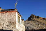 Small house high on the ridge below Gyantse Dzong