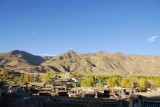 The eastern half of old town Gyantse from the ridge saddle path