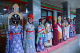 Costumes of the Tibetan Opera on display at the Gyantse Hotel