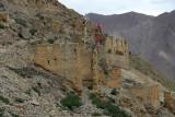 Ruins of Tsechen Monastery below Tsechen Dzong (castle)