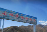 Turnoff for the road to Sakya at km 5028, 24 km east of Lhatse