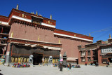Main entrance, Shunggo, of Sakya Monastery from the eastern courtyard