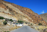 The road from Sakya back to the Friendship Highway