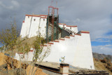 The western end of Shigatse Dzong still with construction scaffolding