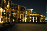 The Palace Hotel at night with Burj Dubai