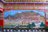 Painting of the Tashilhunpo Monastery in the lobby of the Shigatse Hotel