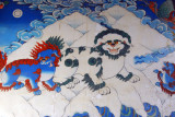 Snow Lions, the national emblem of Tibet