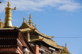 Gilded roof tops of Tashilhunpo Monastery