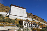 The great festivla thangka wall of Tashilhunpo Monastery