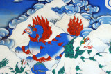 Snow Lions, protectors of Buddha, national emblem and celestial guardian of Tibet