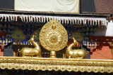 Golden Deer with Dharma Wheel, Kelsang Temple Complex