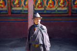 Layperson working at Tashilhunpo Monastery