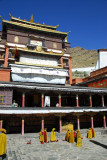 Kelsang Temple Complex  as monks gather