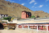 Tashilhunpo Kora Circuit marked by a continuous string of prayer wheels