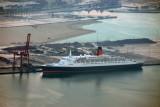 QEII at Port Rashid for retrofitting
