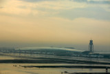 Early morning after a thunderstorm with the new terminal at DXB