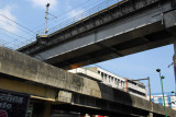 Railroad and LRT bridges at the intersection of Recto and Rizal Avenues, Manila