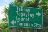Sambat Exit for Tagaytay and Lake Tall