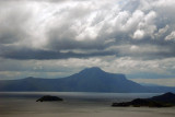 Looking south across Lake Taal to Mount Makulot