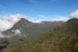 Looking back at the Kaupo Gap as we circle over the Manawainui Valley