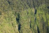 Three ribbon waterfalls, Manawainui Valley, Mt Haleakala