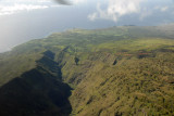 Looking down the Manawainui Valley to the Pacific, Mt Haleakala