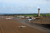Taking off from Kahului Heliport to the north