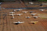 The general aviation ramp on the east side of Maui Airport