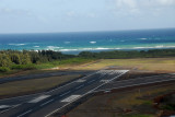 The north end of the main runway 02-20 at Maui and the smaller runway 05-23