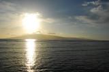 The sun sinking over the island of Lanai