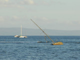 Sailboat shipwrecked off Lahaina