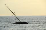 Wrecked sailboat off Lahaina