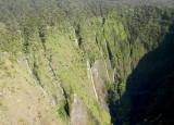 Manawainui Valley from the air, Mt Haleakala, Maui