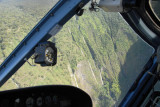 Manawainui Valley through the helicopter window
