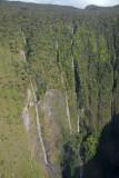 Giant drop off with waterfalls, Manawainui Valley, Mt Haleakala