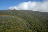 Haleakala National Park with rainbow