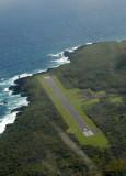 Runway 8/26 at Hana Airport (3606 ft)