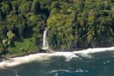 Waterfall at the end of the Heleleikeoha Stream, Maui (N20.8077/E156.0578)