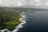 Northeast coast of Maui along Lower Nahiku Road from the air
