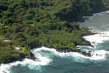 The end of Nahiku Road, Maui, from the air (N20.827/W156.092)