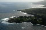Looking back to the Ke'anae Peninsula and the Hana Coast