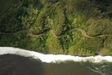 Hana Highway along Honomanu Bay and Kaumahina State Wayside Park