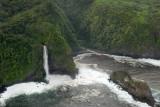 Keopuka Rock and Puohokamoa Valley of Jurassic Park fame