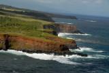 Cliffs of Honopou Point looking west, Maui